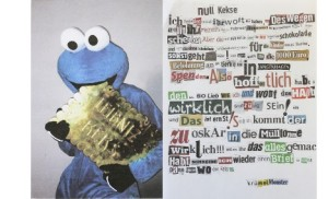 Cookie Monster's ransom note