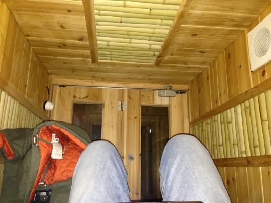 Inside a pod sleeping chamber