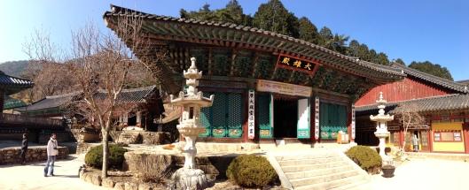 Mountain temple near Daejeon