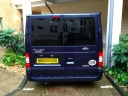Rear of van